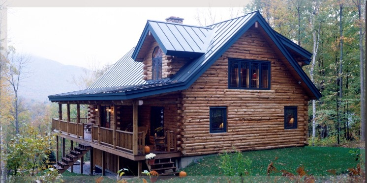 Loft Style Log Cabins By Treetop Log Homes Built In
