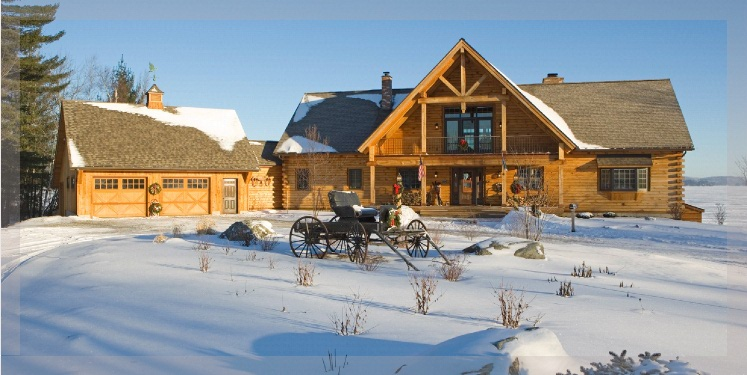 Ranch style log homes by treetop log homes in michigan for Ranch style home kits